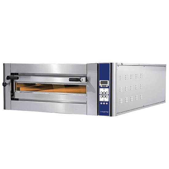 Elektropizzaofen donatello serie 2 backkammer mit touch panel